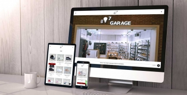 "Online Store Website ""807GARAGE"""